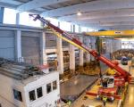 Pictures: Demag AC 45 City lifts precast panels inside shop floor