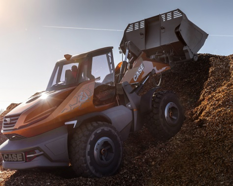 Case develops methane-powered wheel loader concept, ProjectTetra