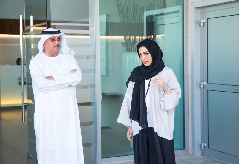 Abdullah Mohammed Juma Al Naboodah, chairman for Saeed & Mohammed Al Naboodah and Fatima Al Naboodah, general manager of sustainability at Al Naboodah Group Enterprises.