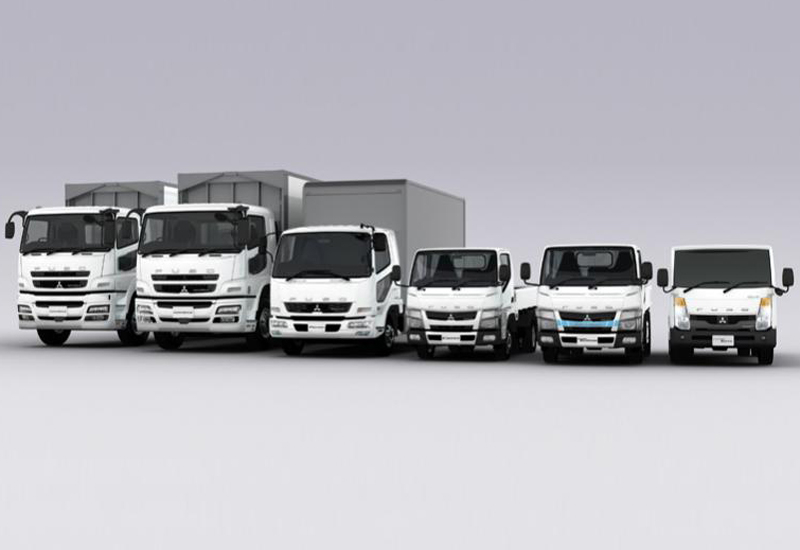 Fuso sells a full range of light- to heavy-duty trucks