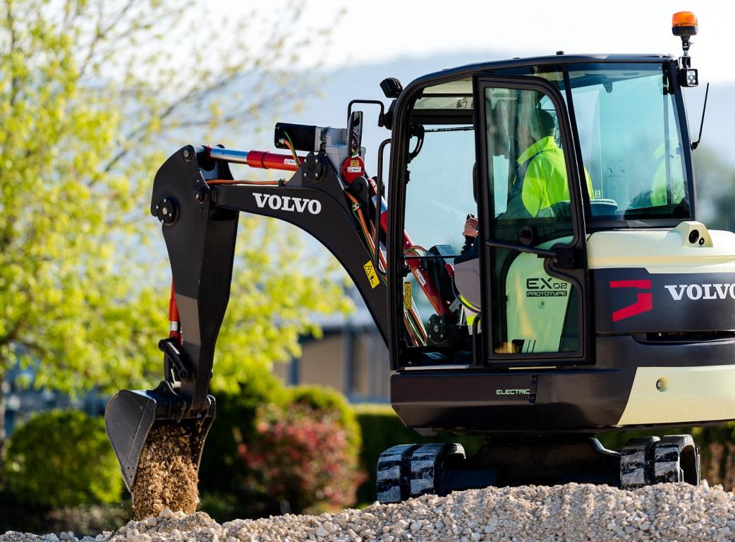 Electric vehicle, Compact equipment, Wheel loader, Excavator, Volvo, Construction equipment