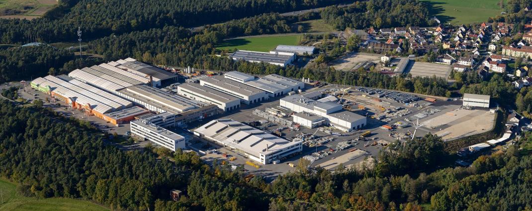 The Tadano Faun plant in Lauf an der Pegnitz, Germany.